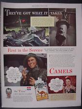 1943 Camel Cigarettes WW2 Submarine Slugger Inez Dale Vintage Print Ad 12013