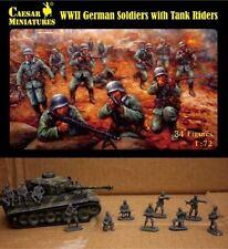 Caesar Miniatures 077 - WW2 German Soldiers With Tank Raiders       1:72 Figures