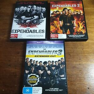 The Expendables 1 2 3 DVD R4 LIKE NEW FREE POST 3 DVD Lot