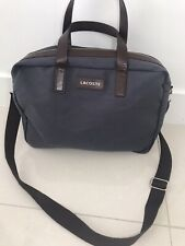 Lacoste Mens Grey Canvas Leather Bag