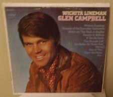 "GLEN CAMPBELL ""WICHITA LINEMAN"" 1968 CAPITOL ST 103 vinyl LP VG"
