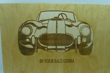 Laser Cut Wood Car Plaques-Wall Art-Counter Displays Shelby Cobra