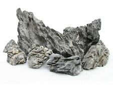 NATURAL GREY MOUNTAIN STONE ROCKS AQUARIUM DECORATION ORNAMENTAL FISH TANK