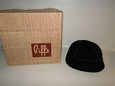 Vintage Lady's Hat, Black Velet Riding Hat, Riff's with Box