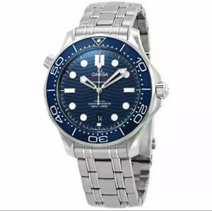 Omega Seamaster Automatic Blue Dial Steel Watch Men's 210.30.42.20.03.001