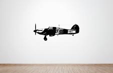 RAF WW2 Hawker Hurricane Plane Wall Art Decal/Sticker (Bataille de la Grande-Bretagne)