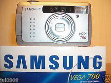 NEW SAMSUNG VEGA 700 QUARTZ DATE~PANORAMA 35MM FILM CAMERA~35-70MM MACRO LENS F3