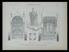 EPINAL, CHAPELLE FUNERAIRE - 1898 - PLANCHE ARCHITECTURE - MOUGENOT