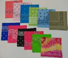 Bandanas Laundered & Pressed, 100% Cotton, Assorted Colors, 12 Pack $17.99