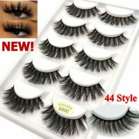 5 Pairs/Pack 3D Mink False Eyelashes Wispy Cross Long Thick Soft Fake Eye Lashes