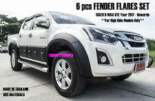 MATTE BLACK SMOOTH FENDER FLARES WHEEL ARCHES FOR ISUZU D-MAX UTE 2017 - 2018