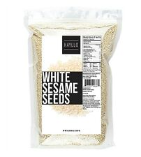 Hayllo Superfood Natural White Sesame Seeds Hulled, 5 Pounds