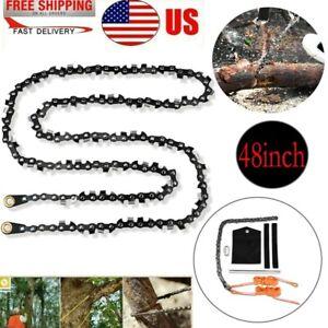 48 Inch High Reach Tree Limb Hand Rope Chain Saw Tree Cutting Rope Chain