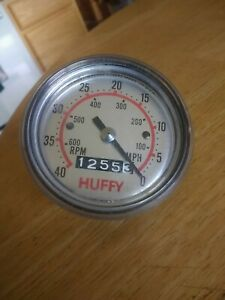 Huffy Bicycle Speedometer/Tachometer, 40 MPH 600 RPM Vintage.