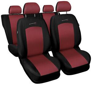 Seat covers full set fit Ford Fiesta Mk3 Mk4 Mk5 Mk6 Mk7 universal red black