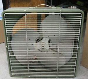 vintage Superlectric three speed 20-in push-button box fan w/ thermostat control