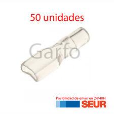 50X Funda Transparente para FASTON 6.3 mm - 6,3 mm
