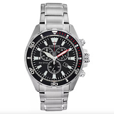 Citizen Eco-Drive Chronograph *AT2438-53E* Men's Stainless Steel Bracelet Watch