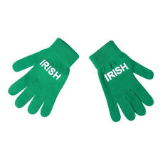 St. Patrick's Day *12 PACK* Acrylic Irish Print Knit Gloves ~NEW~