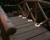 Solar Powered LED Garden Deck Lights Decking Driveway Outdoor Wireless Lighting