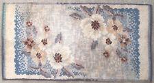 Tapis ancien rug Europeen European Français France Flandres Art Nouveau 1900