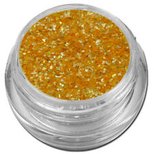 Muschelsplitter Crushed Shells Glitter Glitzer Gelb-Orange Nail Art #00211-06