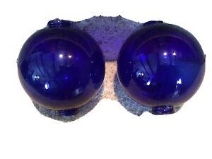 Antique Cobalt Blue Lightning Rod Ball Globes