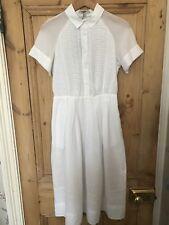 Abito camicia bianca di Paul & Joe Sister taglia 36/8 Dettaglio in Pizzo Nuovo con Etichetta