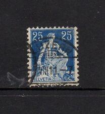 SWITZERLAND 1911 25c BLUE & DEEP BLUE With LUZERNE POSTMARK