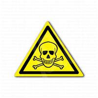 Danger Keep Out Sign Skull Inside Warning Sticker