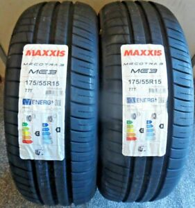 """NEW 175 55 15 Maxxis Mecotra3   """"B"""" Rated Tyres  175/55/R15 175515"""