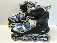 Roller Derby Helios Pro Fitness A1 Men's Inline Skates Size 12 Black Gray Blue