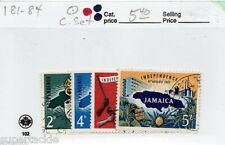 1962 Jamaica Sc# 181-84 Θ used Independence Day postage stamp set.