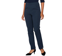 C. Wonder Stretch Twill Pull-On Ankle Length Pants Color Midnight Blue Size 8