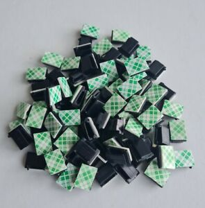 100PCS Cable Clips Ties Self Adhesive 3mm Clamp Holder Organizer Tidy Table Car