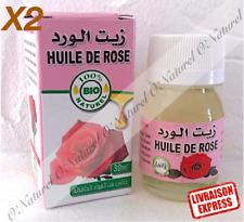 X2 Huile de Rose BIO 100% Pure & Naturelle 30ml Rose Oil, Aceite de Rosa