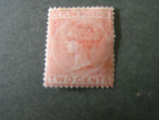 CEYLON, SCOTT # 63, 2c  VALUE ROSE 1872-80 QV ISSUE MH