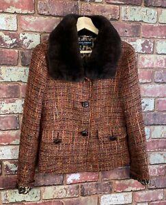 D&G Dolce & Gabanna Womens Wool Suit Jacket UK 10 A90