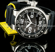 Invicta Mens 52MM Grand Pro Diver Black 'N Silver Big 'N Thick S.S. 100MT Watch