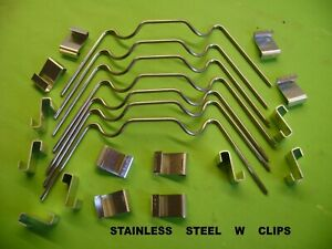 GREENHOUSE STAINLESS STEEL W CLIP AND  Z GLASS GLAZING CLIPS MIXED LOTS