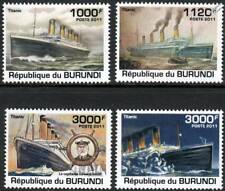 Sinking of RMS TITANIC White Star Line Ocean Liner Ship Stamp Set (2011 Burundi)