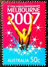 2007 12th FINA WORLD CHAMPIONSHIPS AUSTRALIAN DECIMAL ISSUE **MUH**!!! SWIMMING