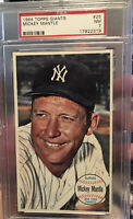 mickey mantle 1964 Topps Giant Card #25 Graded Psa NM7 New York Yankees
