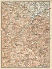 Carta geografica antica SAN MARINO e MONTEFELTRO TCI 1916 Old antique map