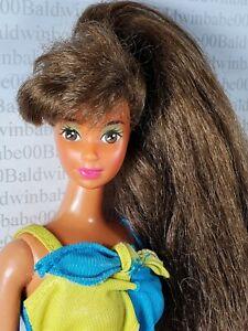 (DB2~ DRESSED BARBIE ~ 1989 WET N WILD TERESA STEFFIE DOLL FOR OOAK DISPLAY