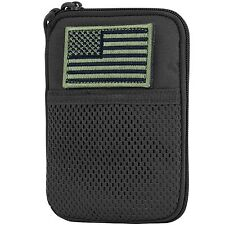Condor MA16 MOLLE Modular American Flag Patch Mesh Document Map Pouch - Black