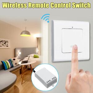 1 Weg 220V Funk Wandschalter Lichtschalter mit Empfänger Drahtlos