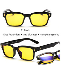 Blue Ray Computer Glasses Men Screen Radiation Eyewear Brand Office Gaming YELLO