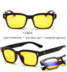 Blue Ray Computer Glasses Men Screen Radiation Eyewear Brand Office Gaming YELLO