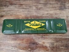 Vintage Green Talens School Products Water Colors Tin Paint Set Usa
